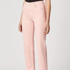 Hudson Remi Straight Crop Jeans in pink